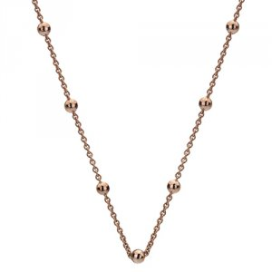 Strieborná retiazka Hot Diamonds Emozioni Rose Gold Cable with Ball Chain 18