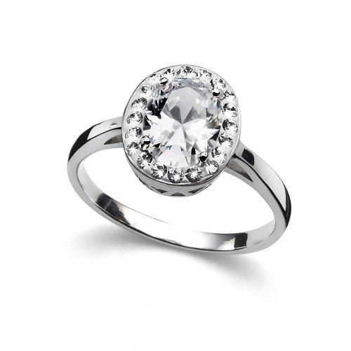 Prsteň s krištáľmi Swarovski Oliver Weber Pure Crystal 63210 29ff1a02409