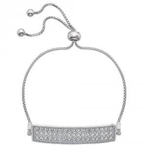 741acf2ac Strieborný náramok Hot Diamonds Crystal Triple Row Clear ...