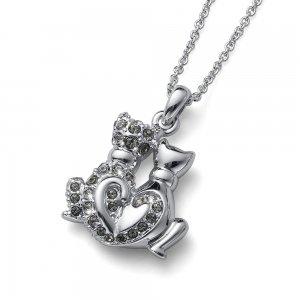 599d4f99a ... Prívesok s krištálmi Swarovski Oliver Weber CatsInLove black diamond