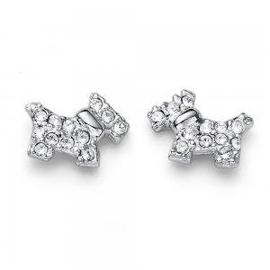 Náušnice s krištáľmi Swarovski Oliver Weber Doggy crystal 56c9dc60419