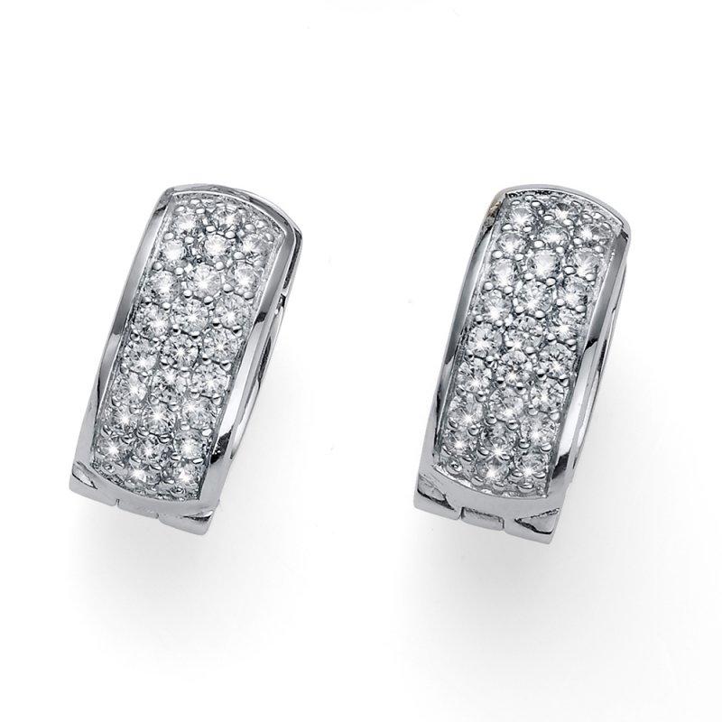6fc426f18 Strieborné náušnice s krištáľmi Swarovski Oliver Weber Soreal crystal