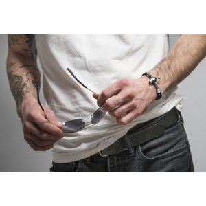 eddfd36da ... Pánsky náramok s krištálmi Swarovski Oliver Weber Anchor black